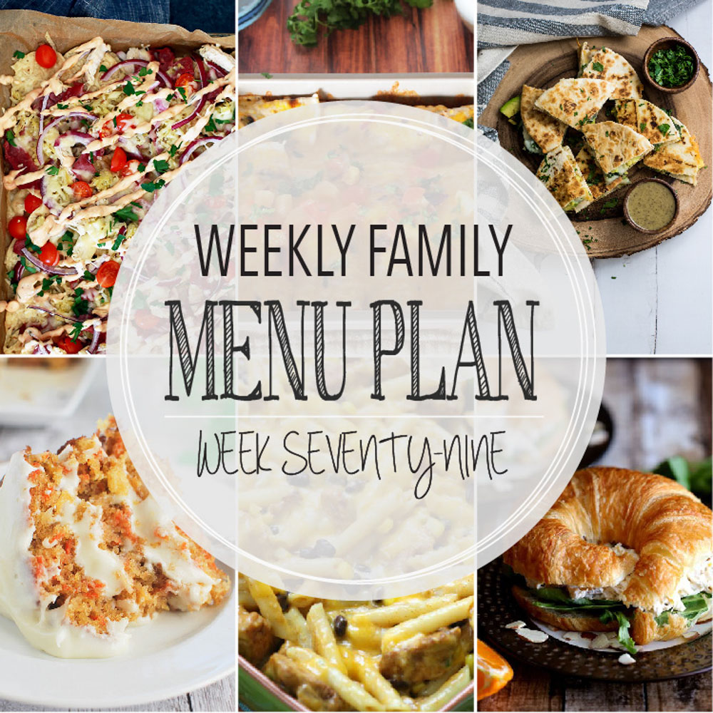 Weekly Family Menu Plan - Week Seventy-Nine is brought to you by a group of food bloggers who love to plan ahead! A weekly edition of thoughtfully prepared recipes is rounded up to get you through those busy weeks! | www.cookingandbeer.com