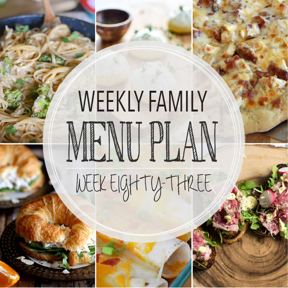 Weekly Family Menu Plan - Week Eighty-Three is brought to you by a group of food bloggers who love to plan ahead! A weekly edition of thoughtfully prepared recipes is rounded up to get you through those busy weeks! | www.cookingandbeer.com