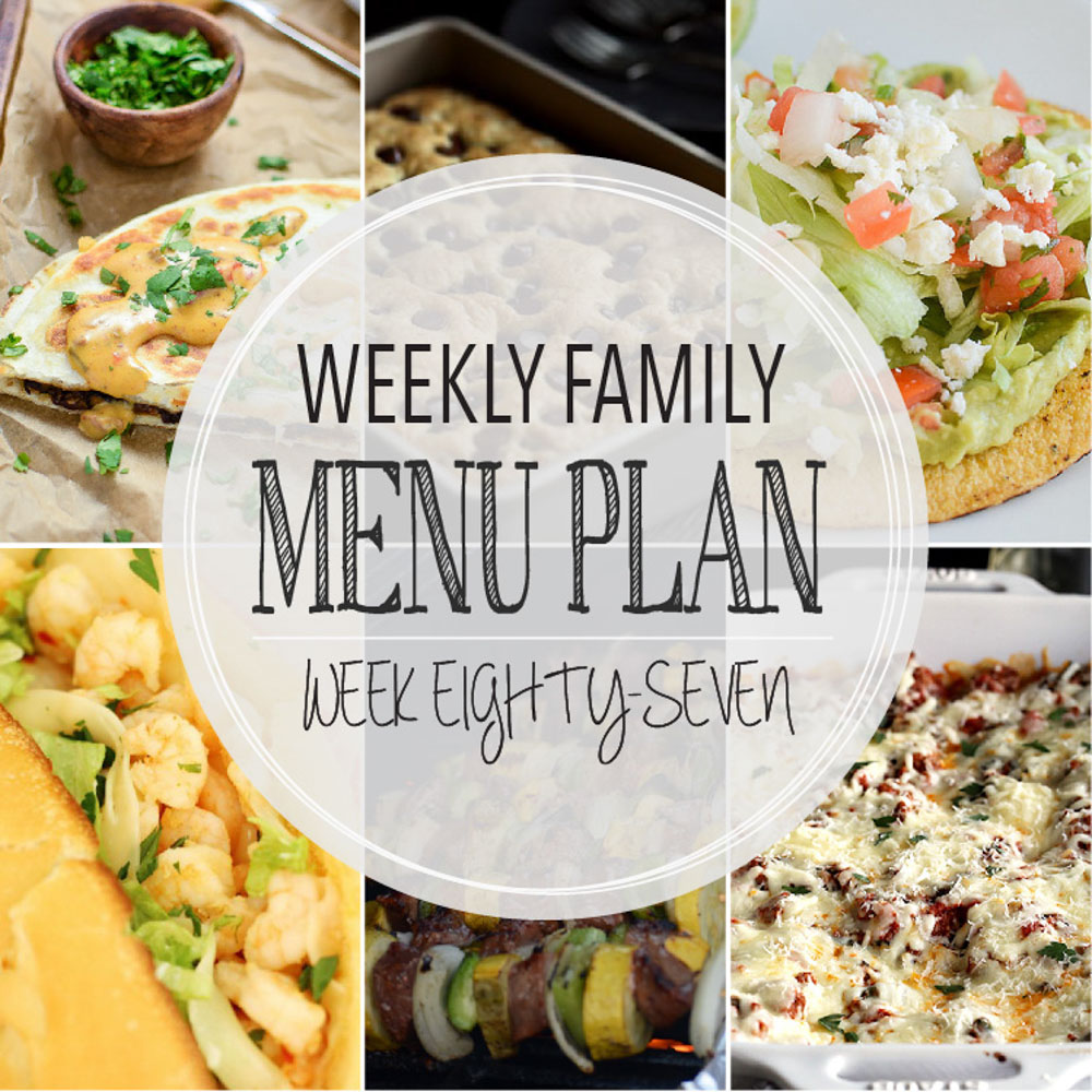 Weekly Family Menu Plan - Week Eighty-Seven is brought to you by a group of food bloggers who love to plan ahead! A weekly edition of thoughtfully prepared recipes is rounded up to get you through those busy weeks! | www.cookingandbeer.com