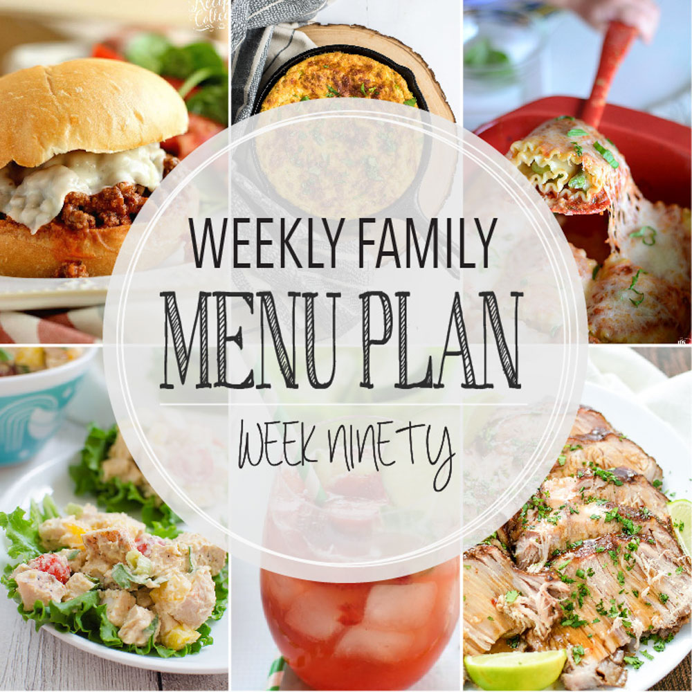 Weekly Family Menu Plan - Week Ninety is brought to you by a group of food bloggers who love to plan ahead! A weekly edition of thoughtfully prepared recipes is rounded up to get you through those busy weeks! | www.cookingandbeer.com