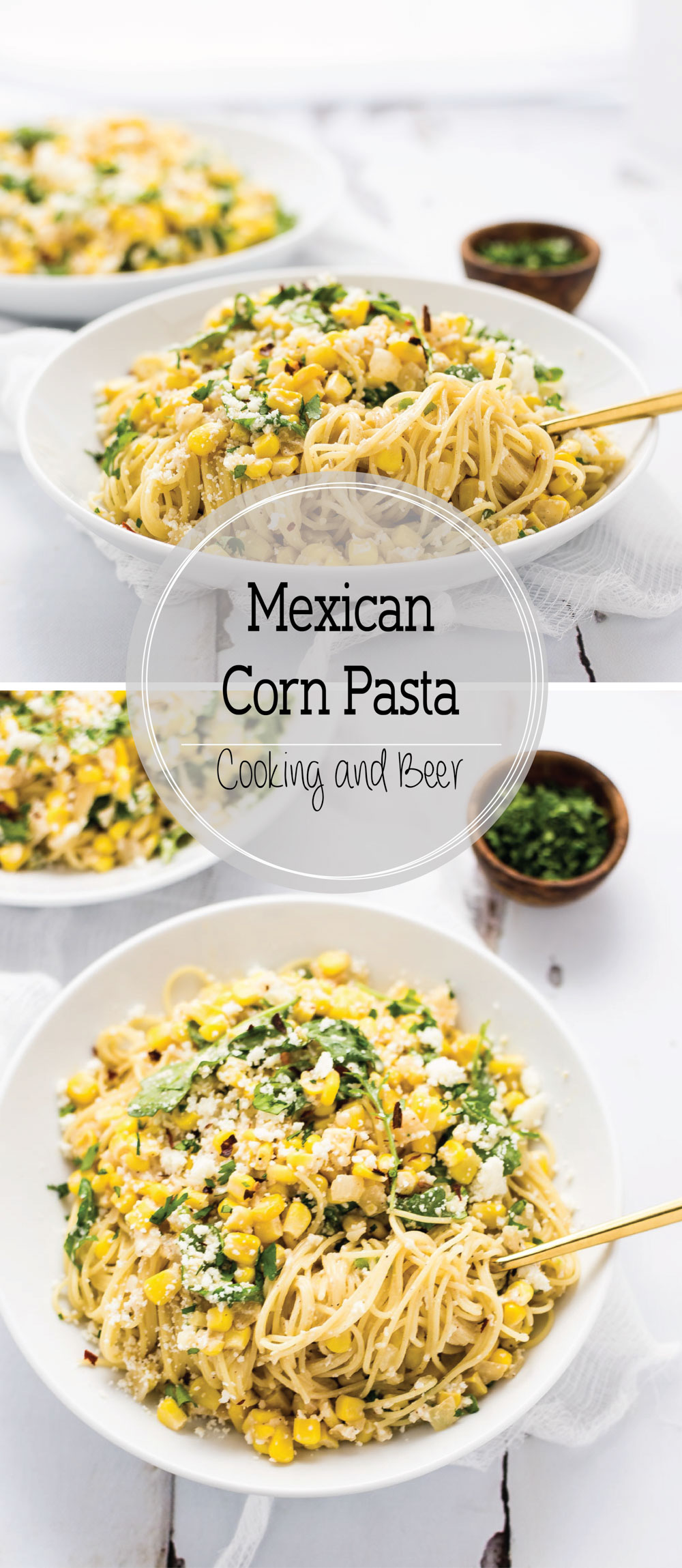 Mexican Corn Pasta is a super fresh and super delicious quick weeknight meal!
