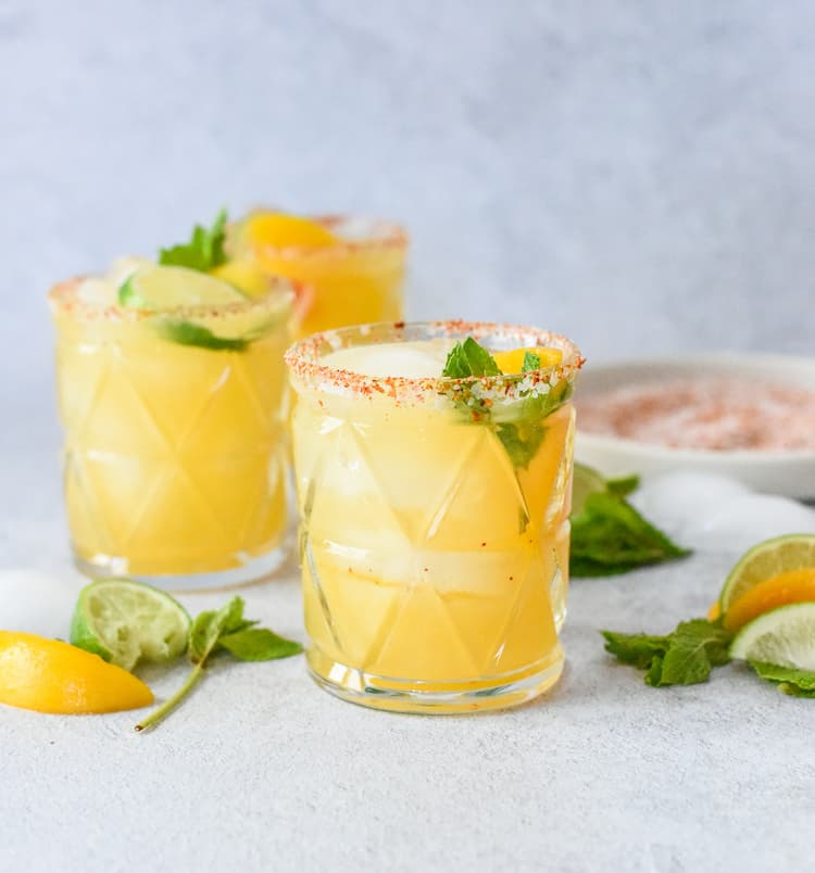 Smoky Peach Mezcal Margarita