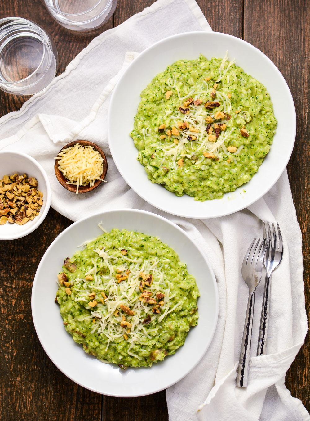 Risotto with Kale Pesto and Bacon is an example of a much simpler way to make risotto with a ton of flavor!