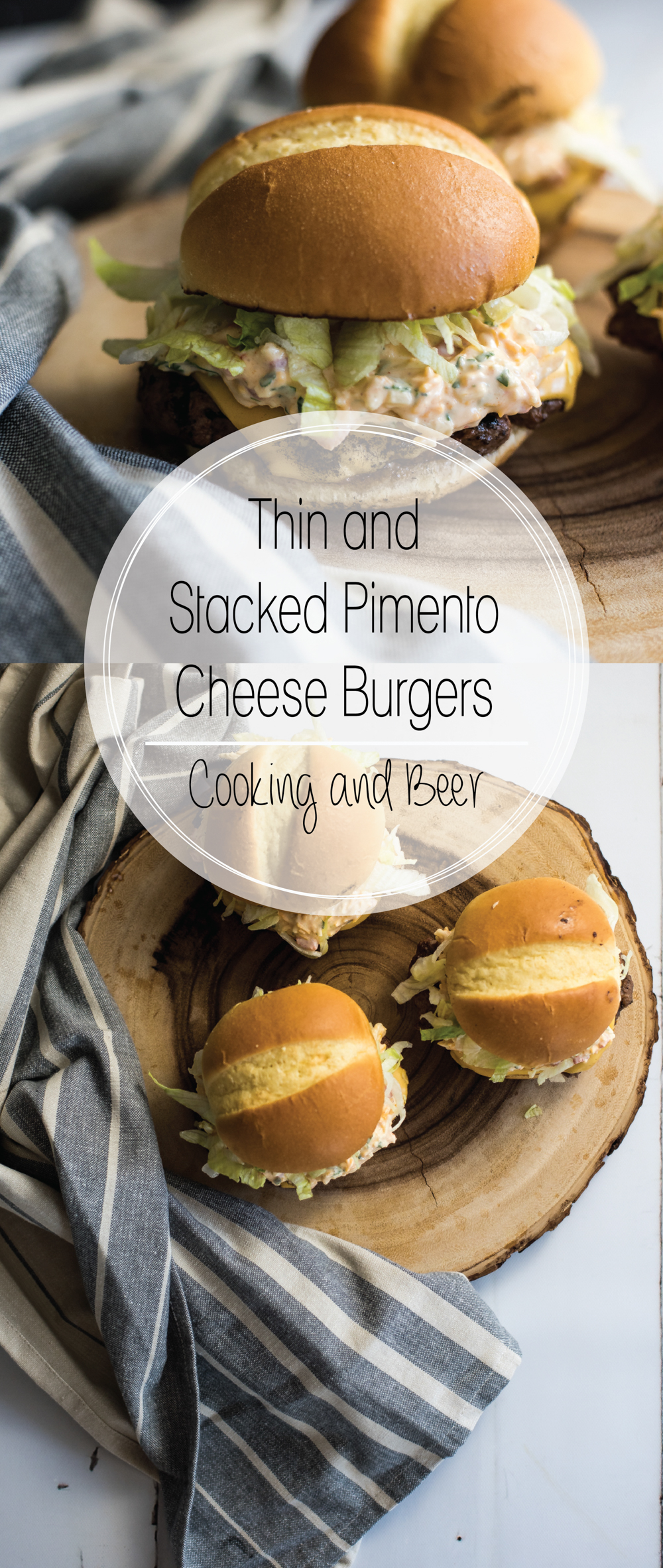 These thin and stacked pimento cheeseburgers are like no burger you've ever had. The burgers are crispy and thin, and are topped with the best cheese!