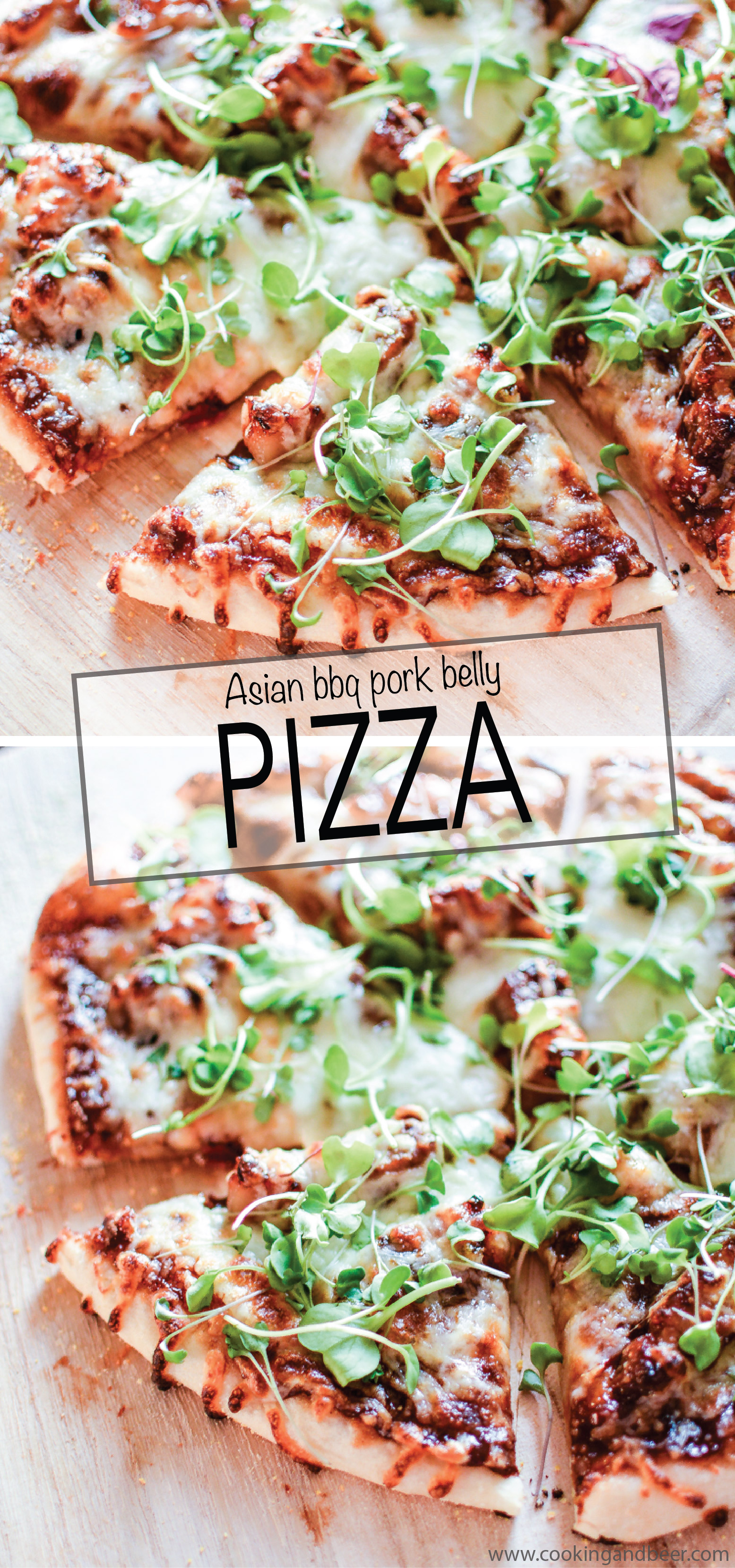 Pork Belly Pizza with Barbecue Sauce is the perfect recipe for Friday pizza night! | www.cookingandbeer.com