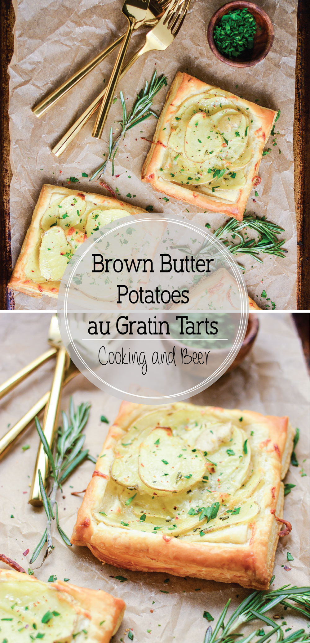 Brown Butter Potatoes Au Gratin Tarts are simple, yet delicious side dish that's perfect for Easter brunch!