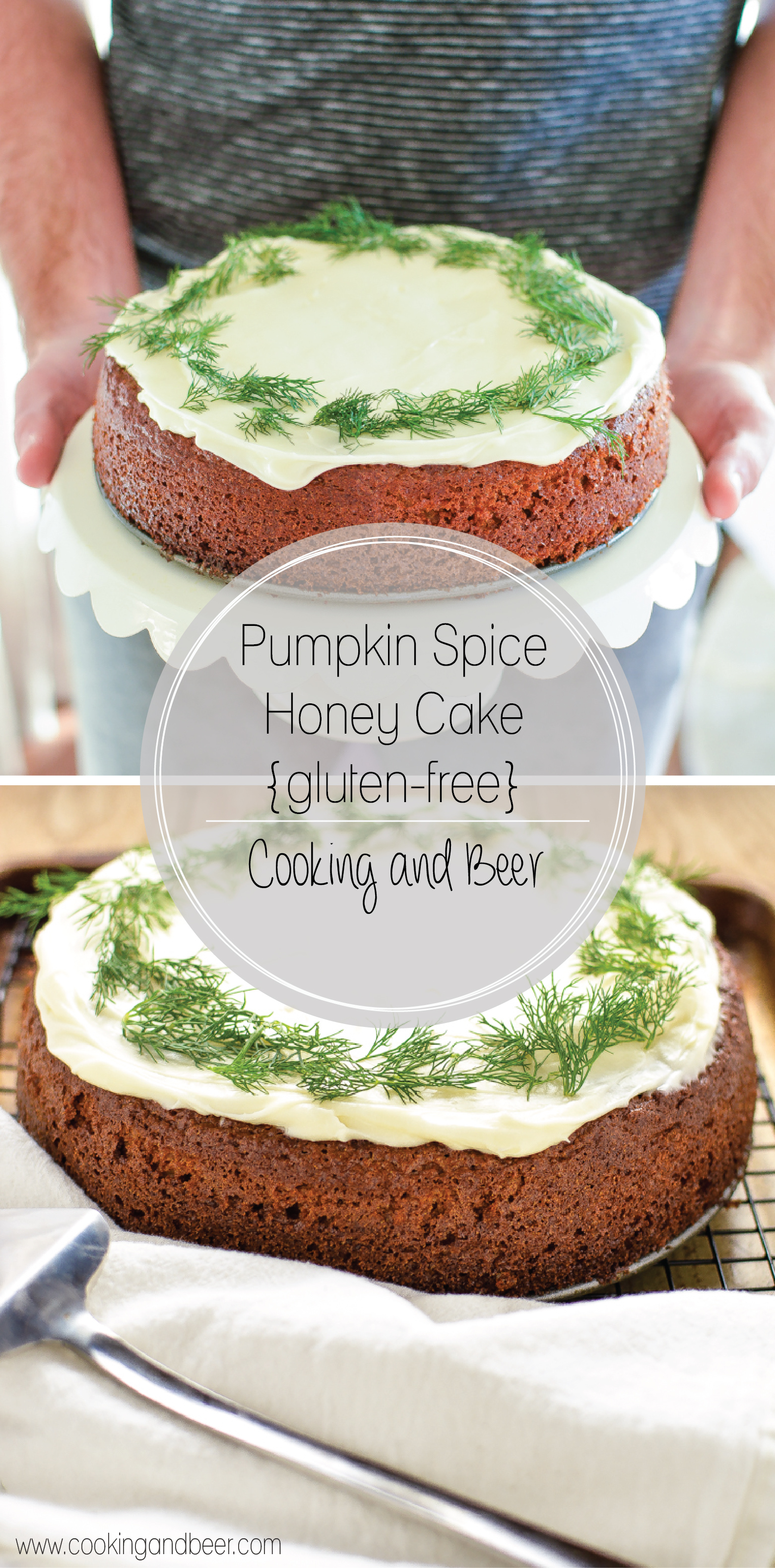 You would never know that this pumpkin spiced honey cake is gluten-free. With it's fall flavors and moist consistency, this cake is a must-have this autumn!