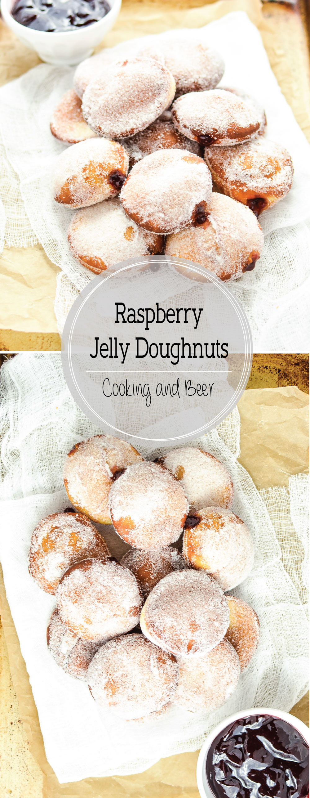 Almond Raspberry Jelly Doughnuts are the perfect sweet treat for breakfast or brunch this spring!