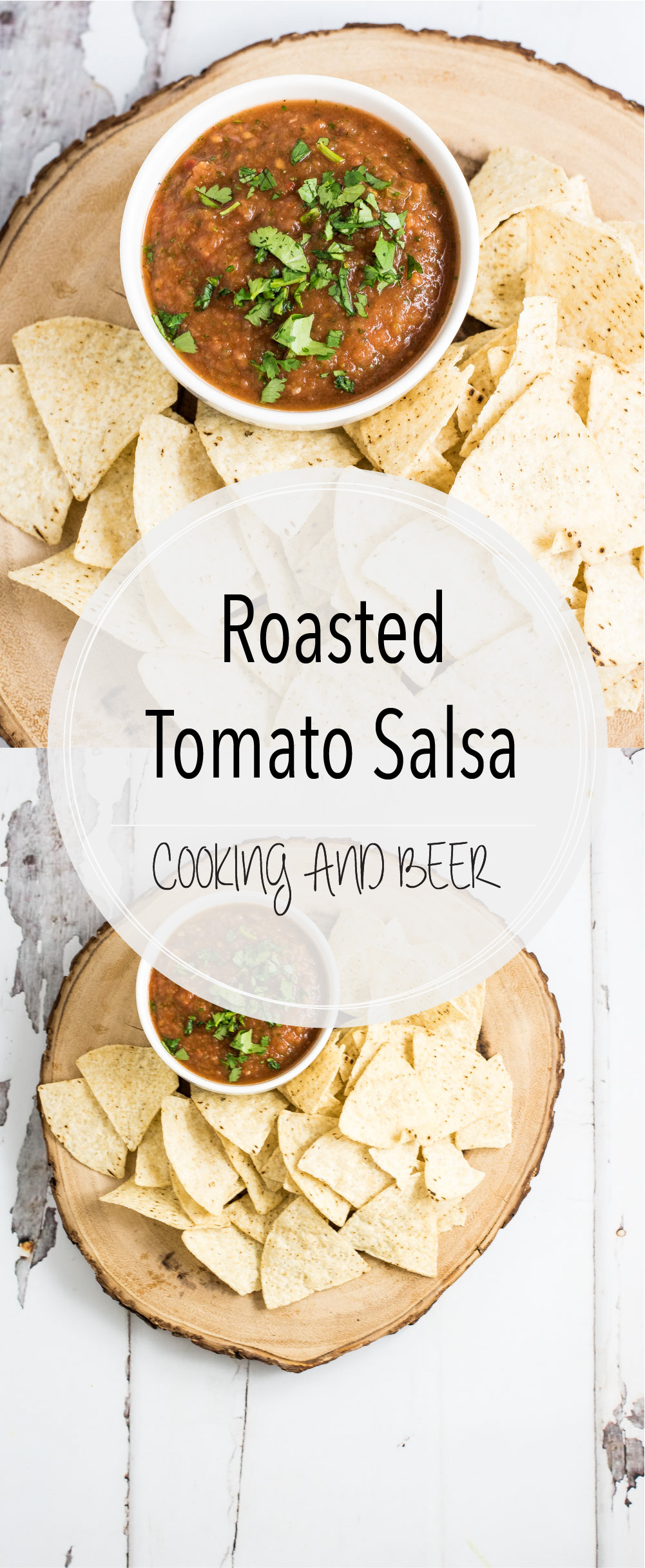 Simple, quick, and delicious: this roasted tomato salsa takes your average restaurant-style salsa to the next level! It's the perfect appetizer!