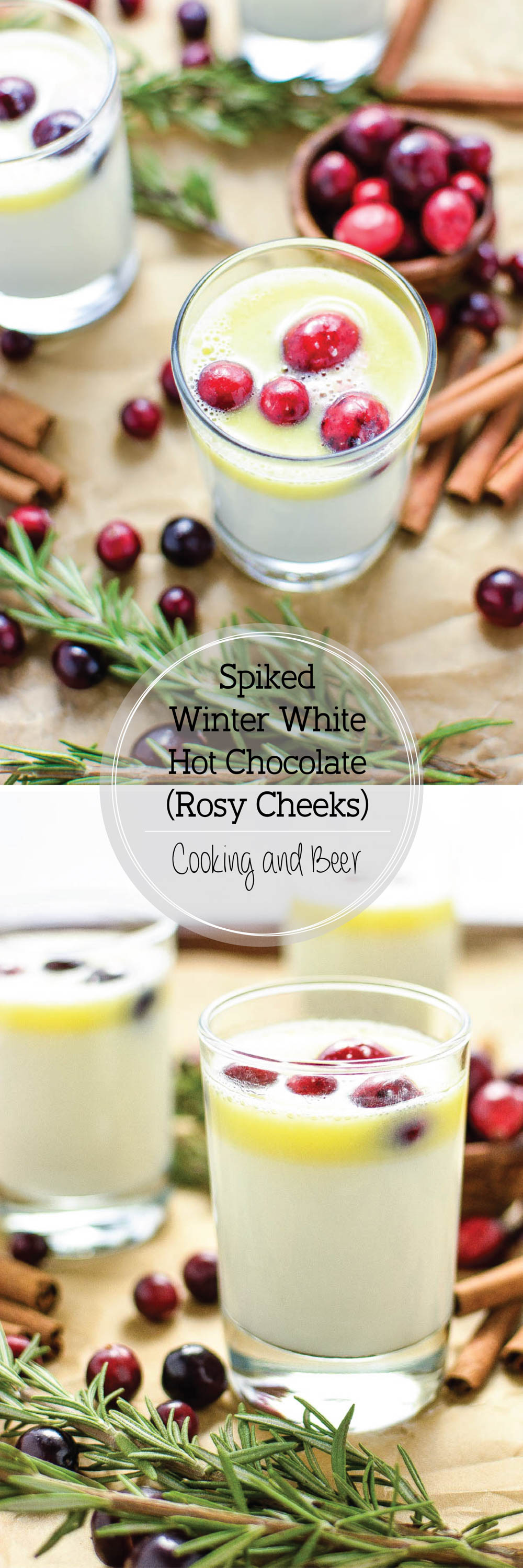 Rosy Cheek (Spiked Winter White Hot Chocolate): a nutty and buttery eggnog-like drink that's perfect for the holidays!