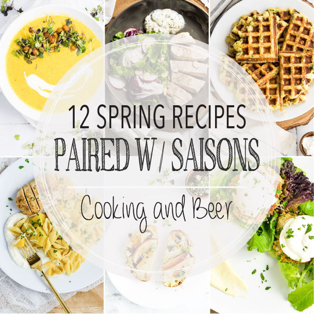 From light spring pasta dishes to lavender crepes and from steamed asparagus to avocado toast, here are 12 spring recipes paired with saisons!