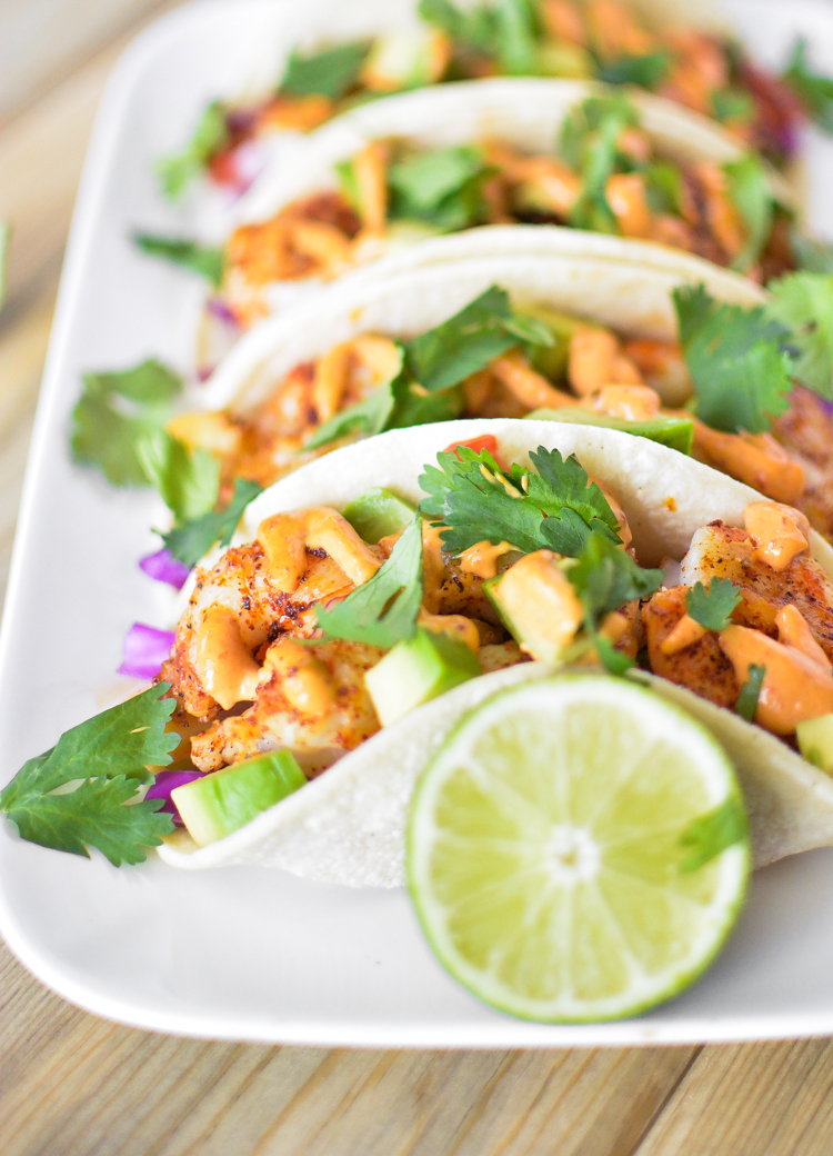 Grilled Saison Shrimp Tacos