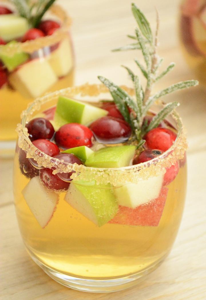 Thanksgiving Cider Sangria Recipe — Dishmaps