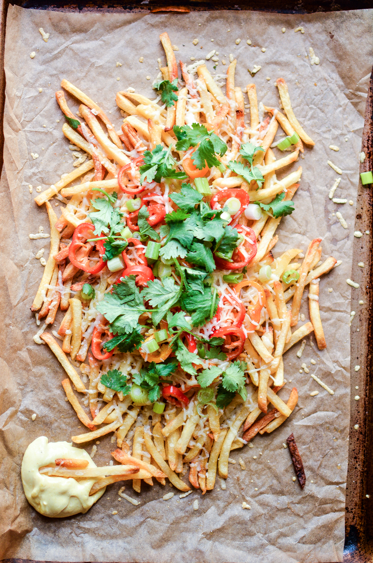 Crispy Baked Shoestring French Fries are a simple and quick game day ...