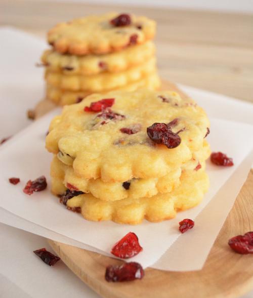 Citrus and Cranberry Shortbread Cookies