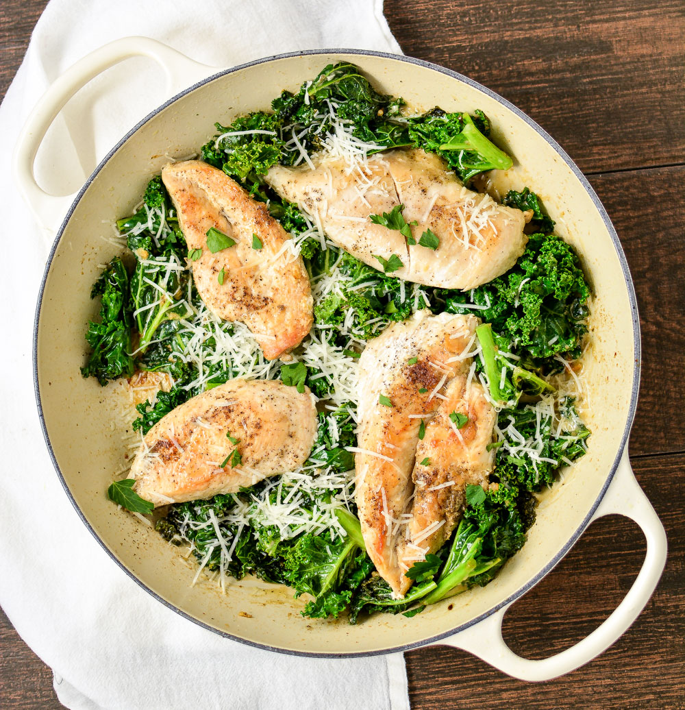 Skillet Chicken Caesar Salad is a fun twist on a classic recipe that's flavorful and full of texture!