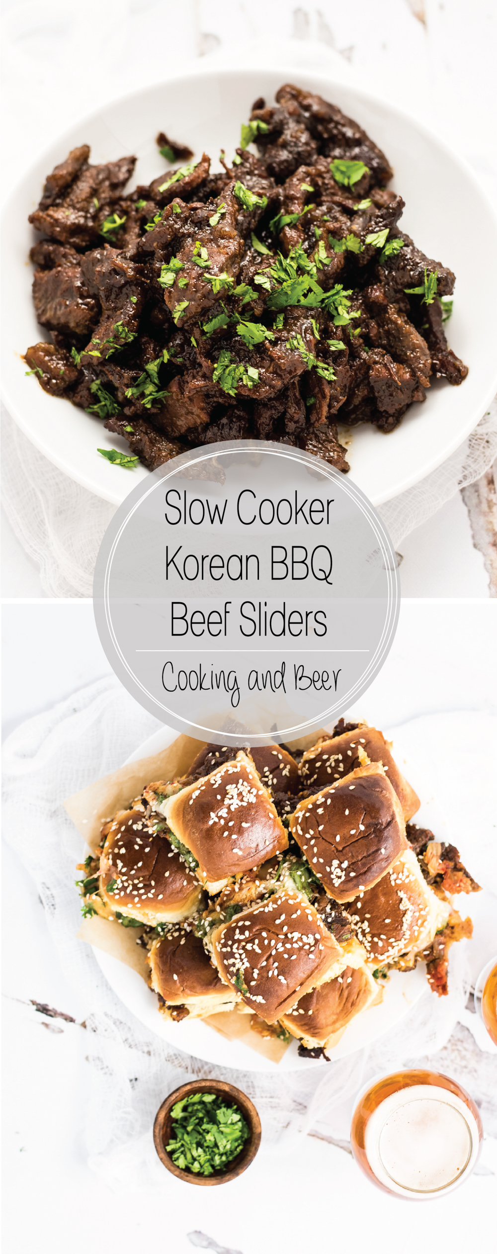 Slow Cooker Korean BBQ Beef Sliders are a super simple, family-friendly, amazingly delicious snack or dinner recipe!