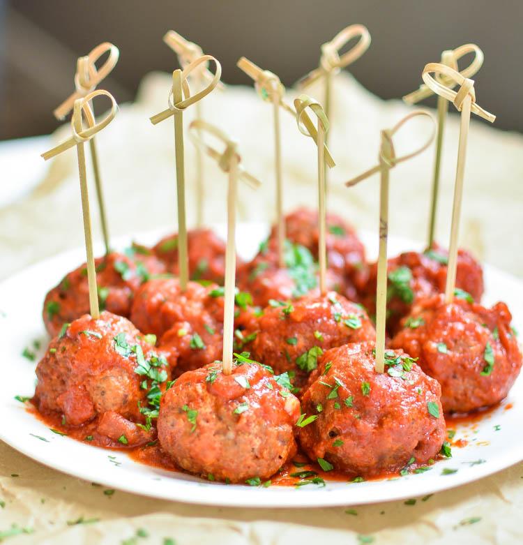 Italian style slow cooker meatballs for Italian snacks