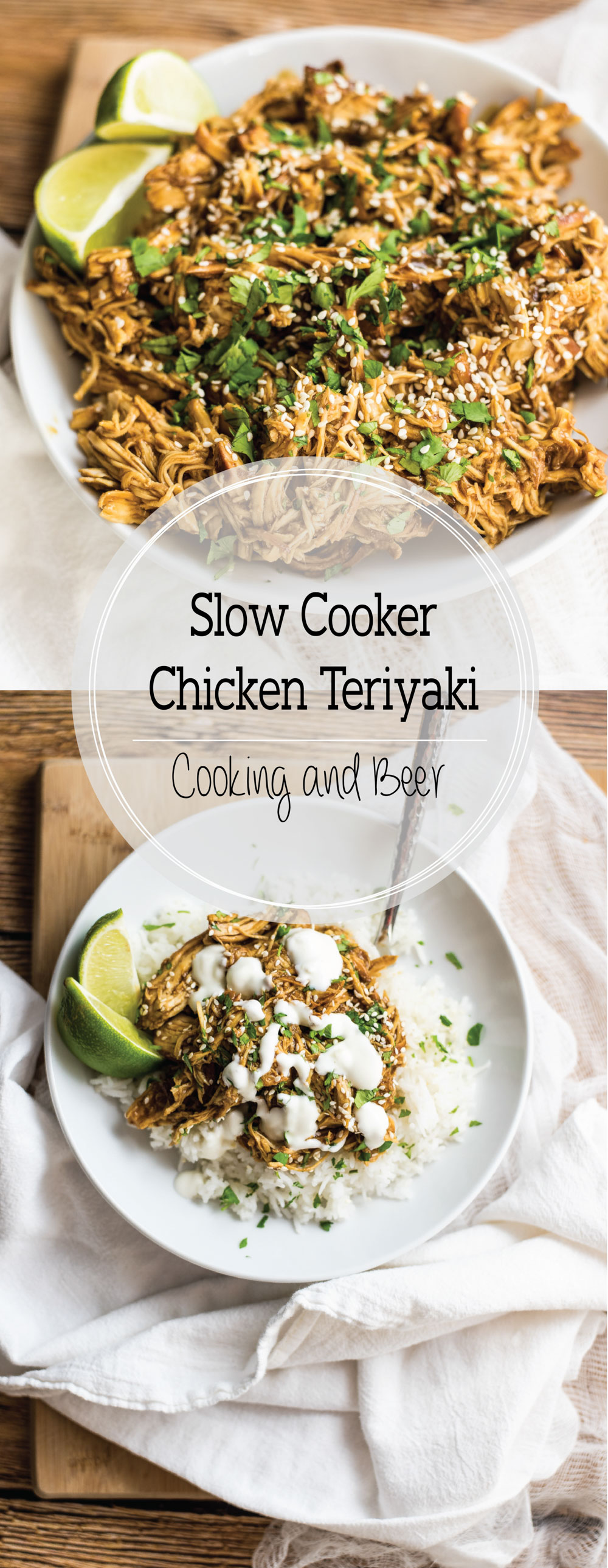 Slow cooker chicken teriyaki is a super flavorful and delicious weeknight dinner recipe. It's perfect served on a bed of rice or a taco shell!