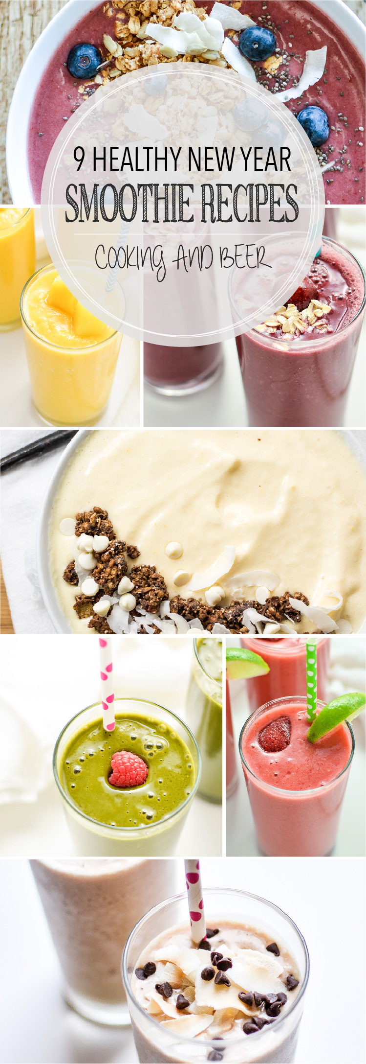 From fruity to earthy, and from sweet to not-so-sweet, here are 9 healthy smoothie recipes to kick start the new year! Add them to your morning routine!
