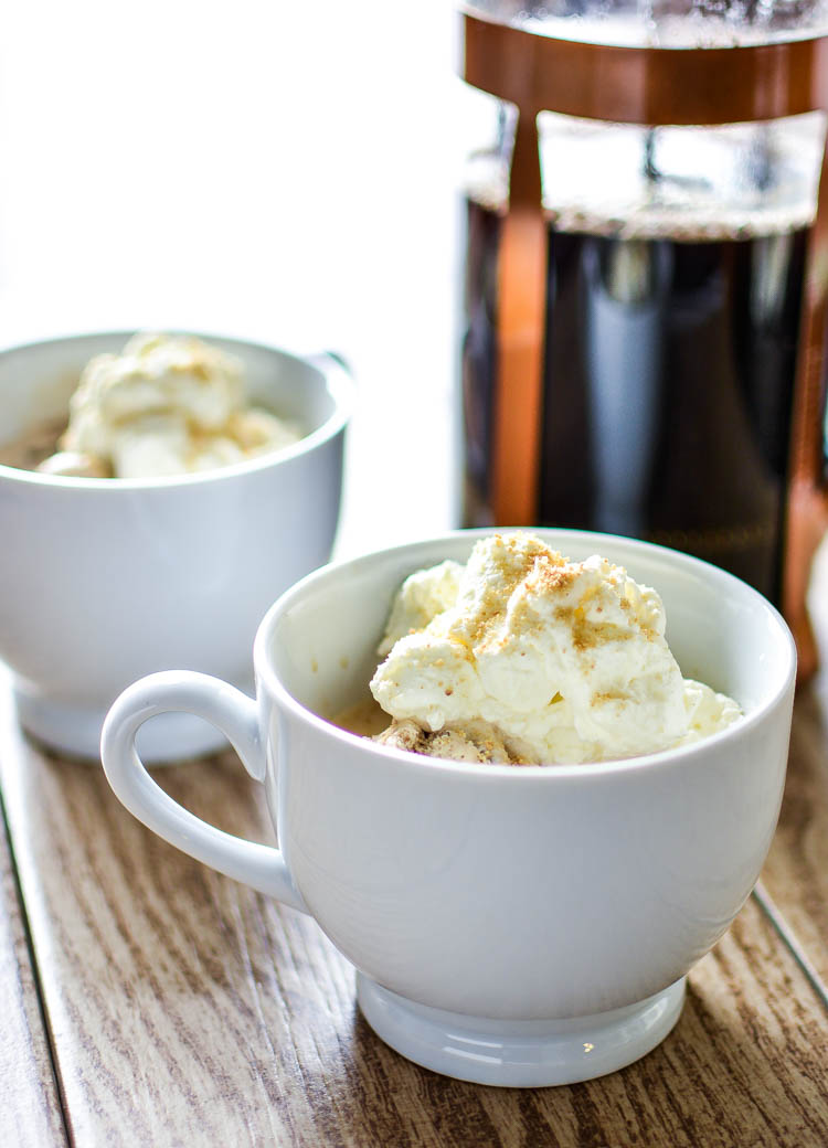 S'mores Affogato with Marshmallow Whipped Cream | www.cookingandbeer.com
