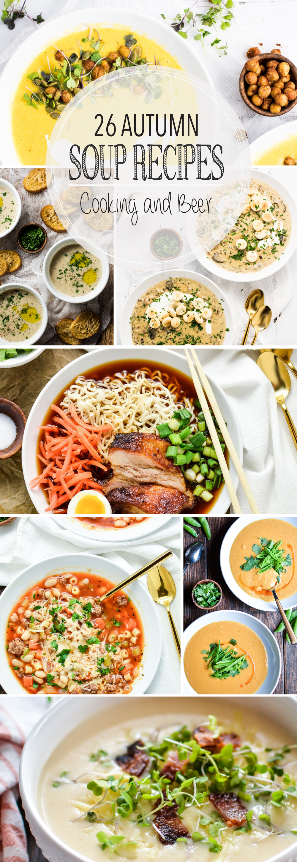 From bisques to stews and chowders to vegetable, here are 26 soup recipes that are perfect autumn! Add these recipes to your fall menu plans ASAP!