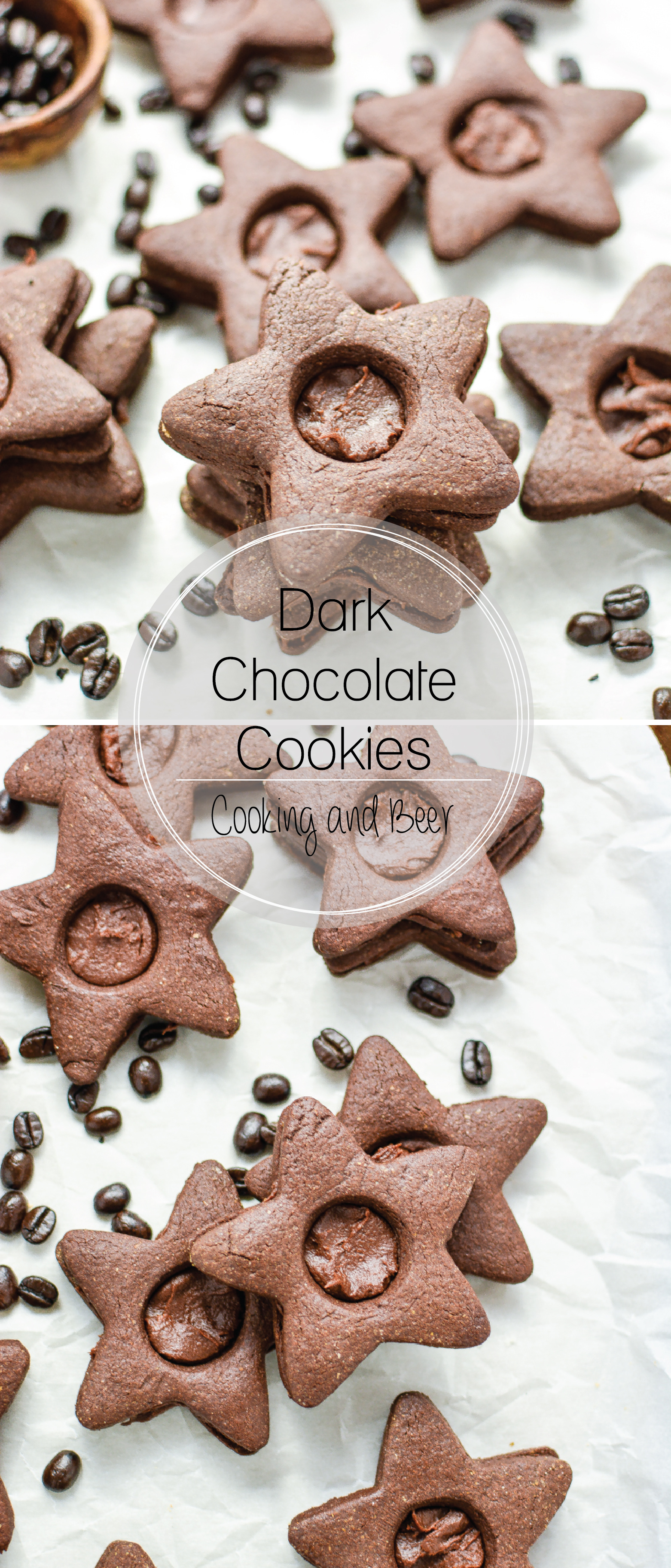 Dark Chocolate Cookies with Dark Chocolate Fudge Filling: the perfect Christmas cookie to add to your holiday baking menu!