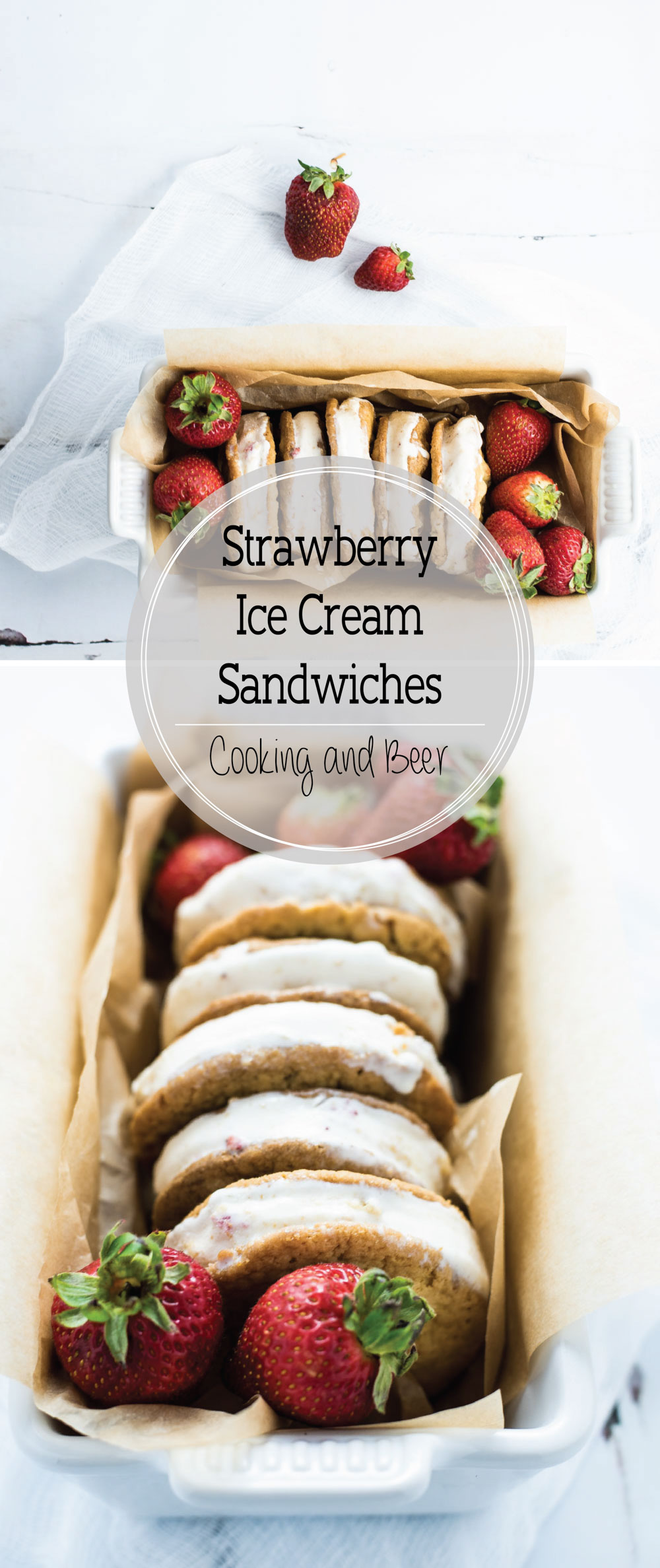 Strawberry Ice Cream Sandwiches are a refreshing way to cool down this summer!