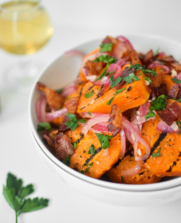 grilled sweet potato salad