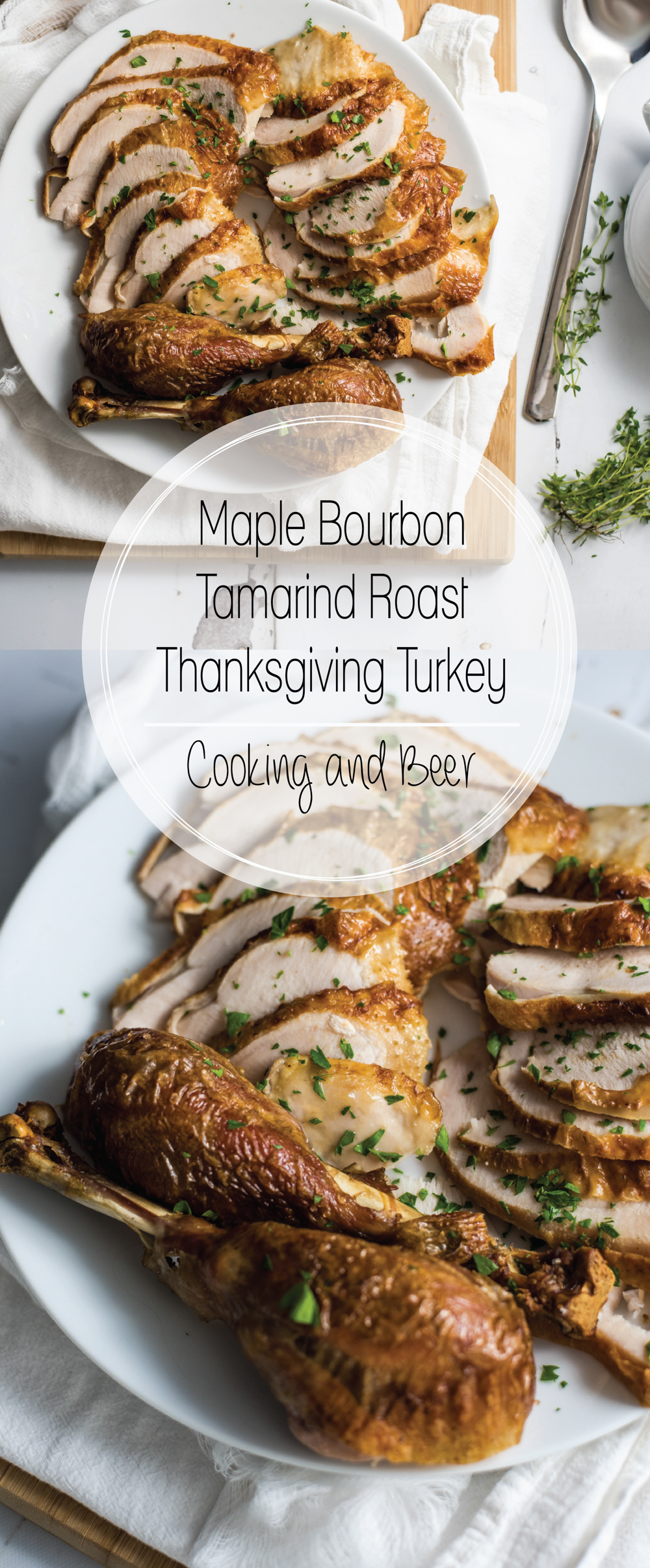 Maple bourbon tamarind roast Thanksgiving turkey is the perfect way to spruce up your traditional Thanksgiving Day spread.