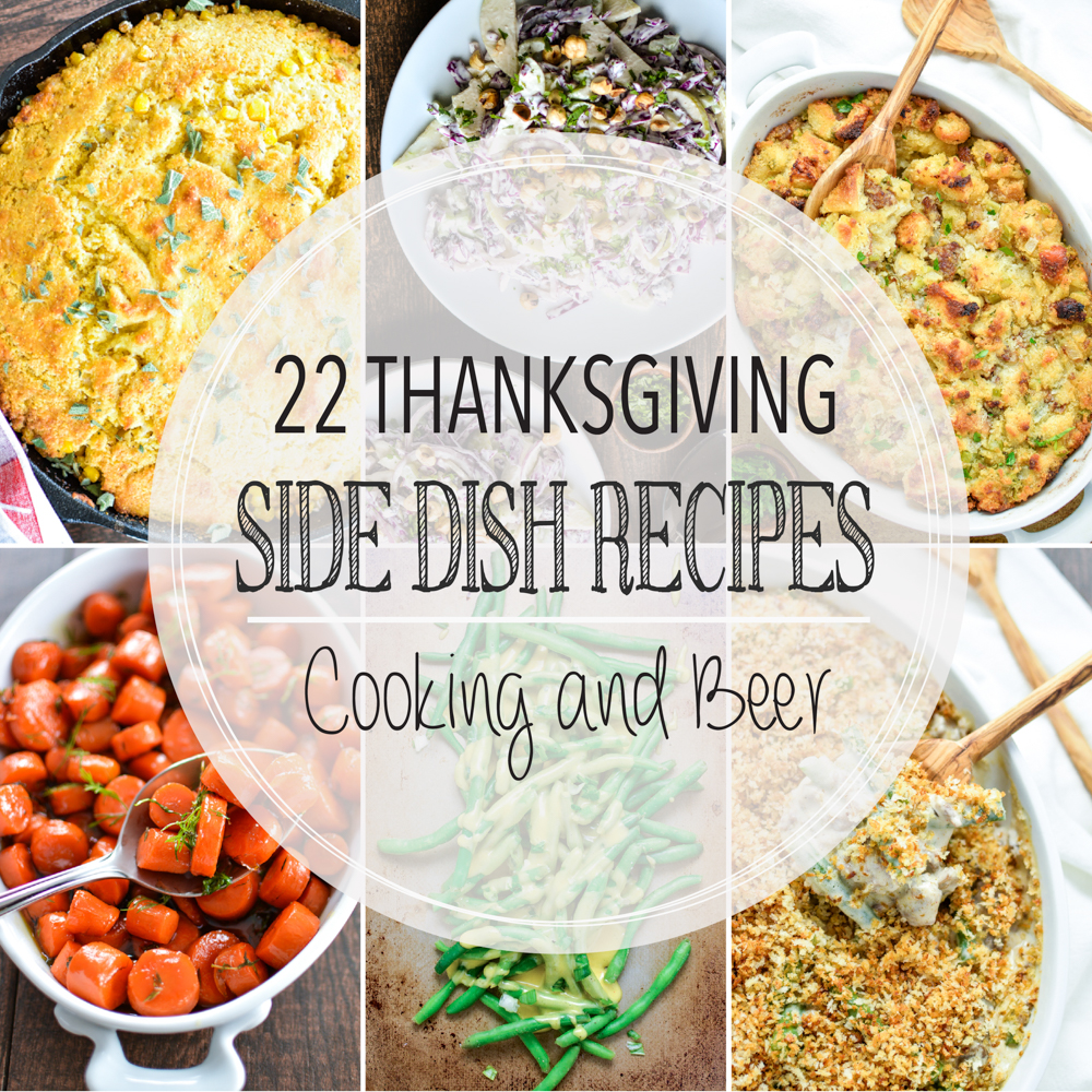 From biscuits and cornbread to sweet potatoes and green bean casserole, here are 23 Thanksgiving side dish recipes to make your holiday memorable!!