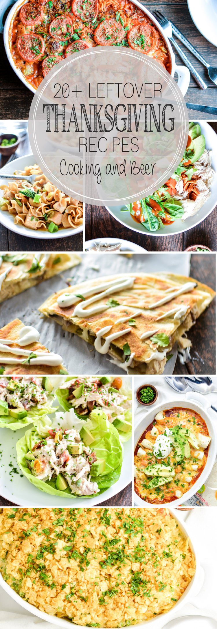 20+ Thanksgiving Leftovers Recipes centered around turkey!
