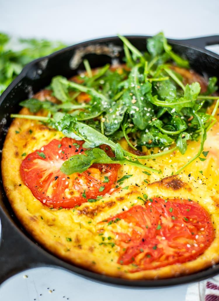 Cheesy Tomato Frittata