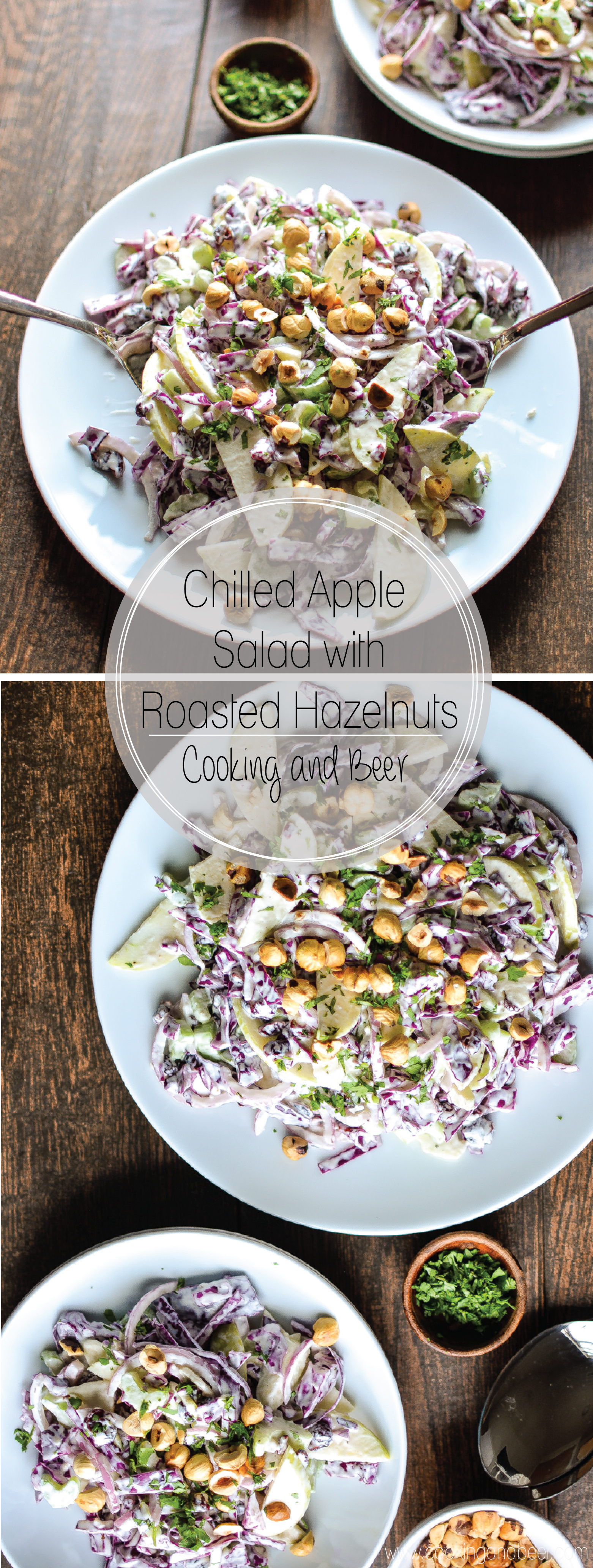 Chilled Apple Salad with Roasted Hazelnuts: a side dish recipe to add to your fall menus!