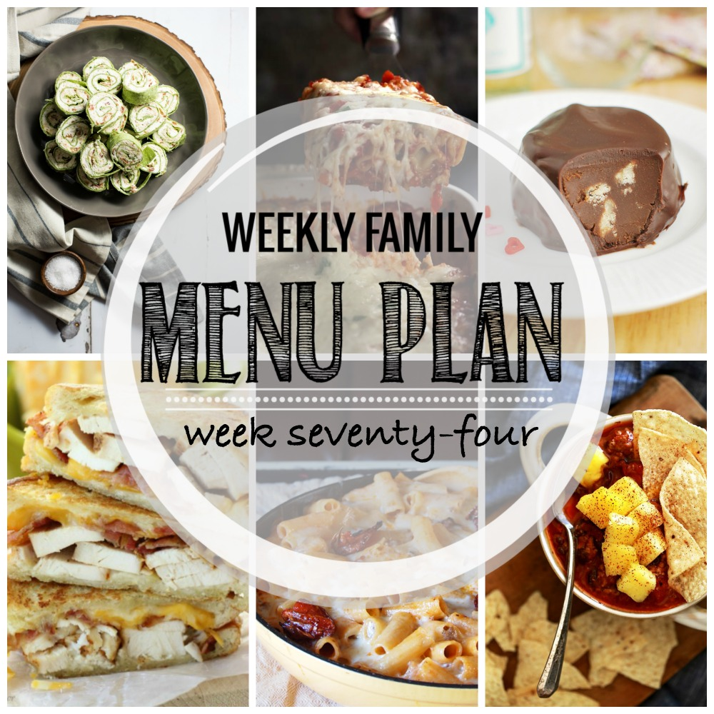 Weekly Family Menu Plan - Week Seventy-Four is brought to you by a group of food bloggers who love to plan ahead! A weekly edition of thoughtfully prepared recipes is rounded up to get you through those busy weeks! | www.cookingandbeer.com