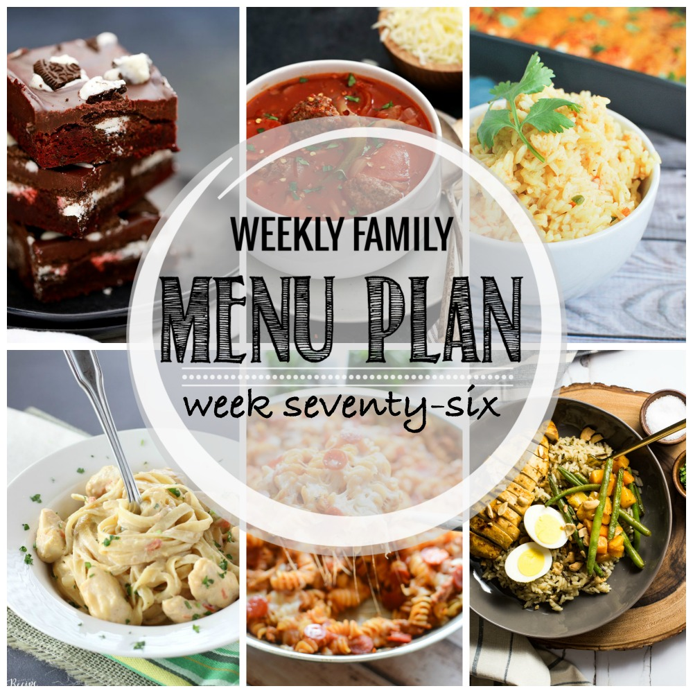 Weekly Family Menu Plan - Week Seventy-Six is brought to you by a group of food bloggers who love to plan ahead! A weekly edition of thoughtfully prepared recipes is rounded up to get you through those busy weeks! | www.cookingandbeer.com