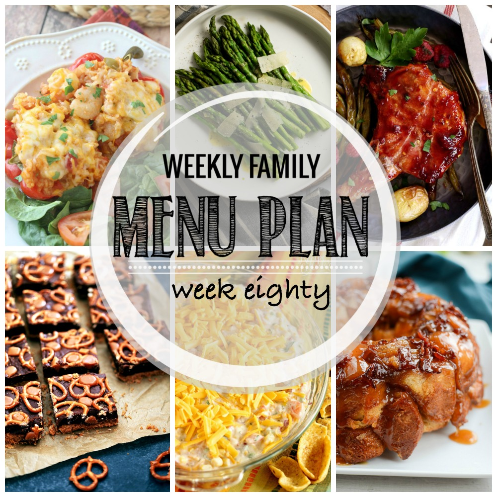 Weekly Family Menu Plan - Week Eighty is brought to you by a group of food bloggers who love to plan ahead! A weekly edition of thoughtfully prepared recipes is rounded up to get you through those busy weeks! | www.cookingandbeer.com