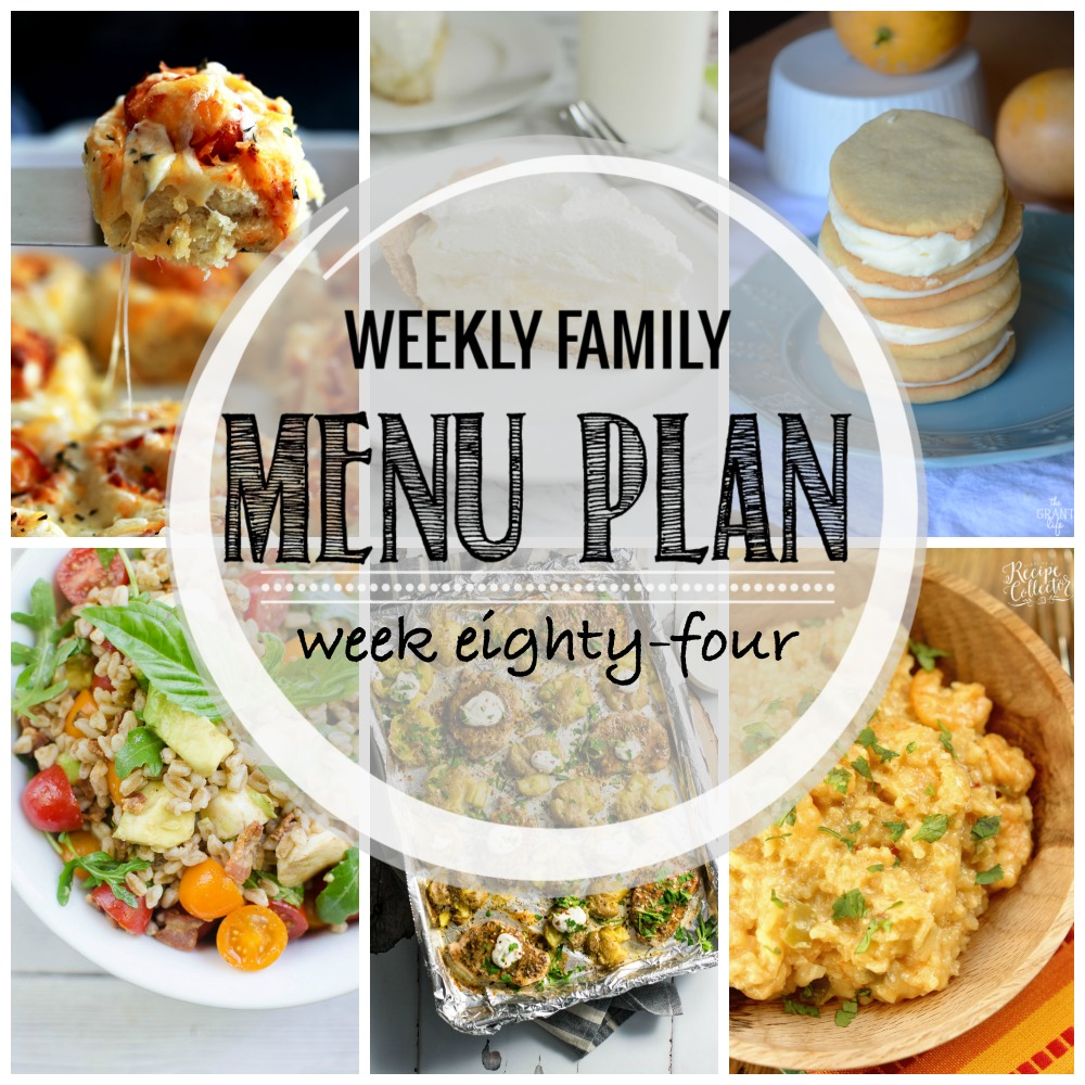 Weekly Family Menu Plan - Week Eighty-Four is brought to you by a group of food bloggers who love to plan ahead! A weekly edition of thoughtfully prepared recipes is rounded up to get you through those busy weeks! | www.cookingandbeer.com