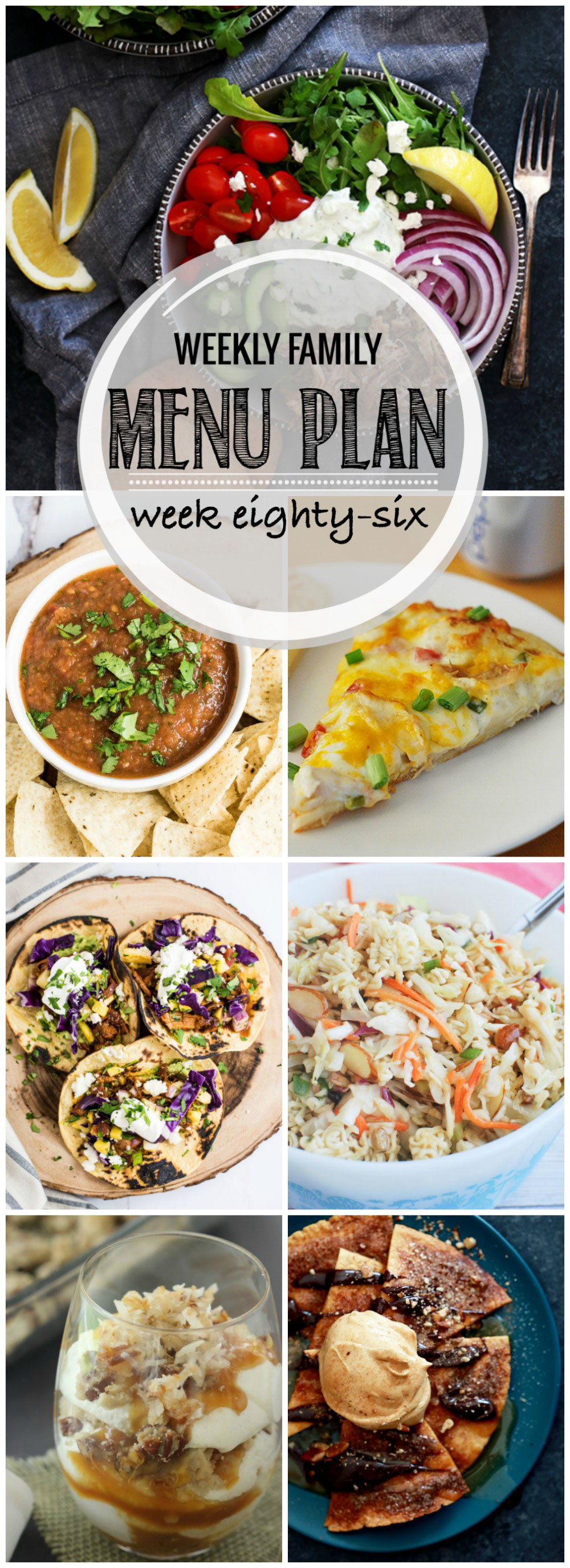 Weekly Family Menu Plan - Week Eighty-six is brought to you by a group of food bloggers who love to plan ahead! A weekly edition of thoughtfully prepared recipes is rounded up to get you through those busy weeks! | www.cookingandbeer.com