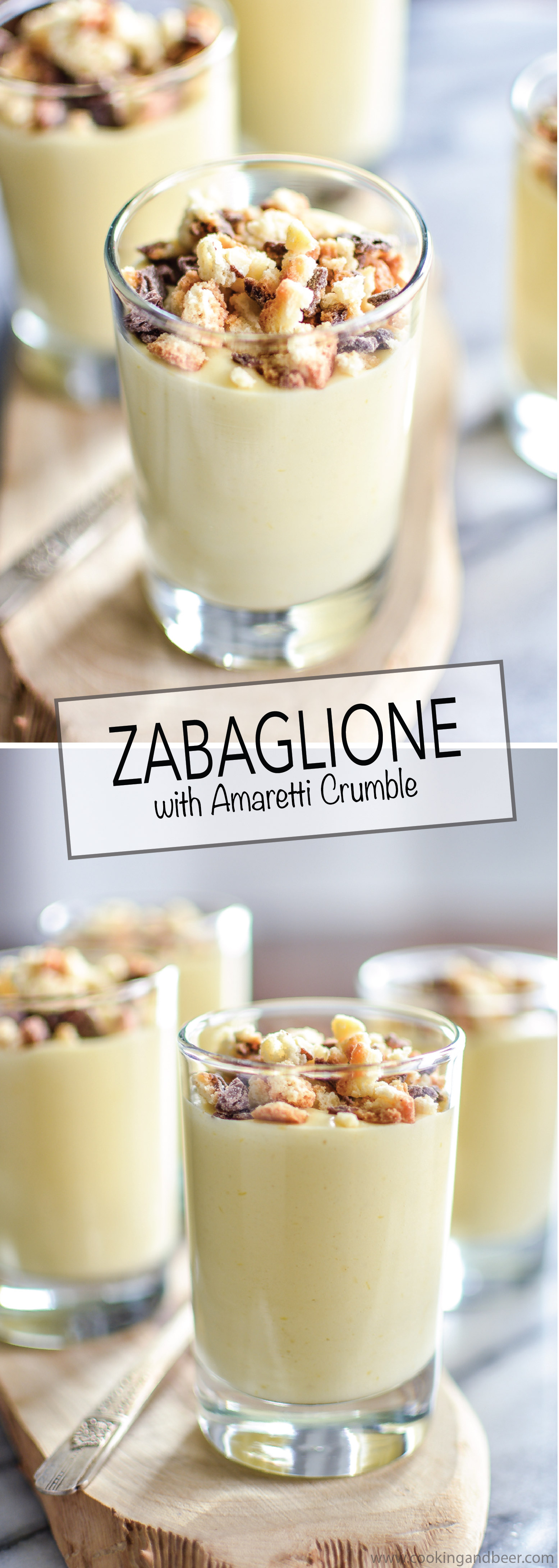 Italian Zabaglione with Biscotti Crumble is a great dessert recipe for ...
